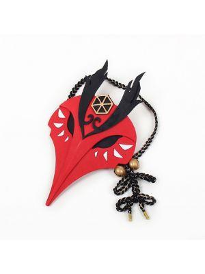 Genshin Impact Kujou Sara Mask Cosplay for Sale