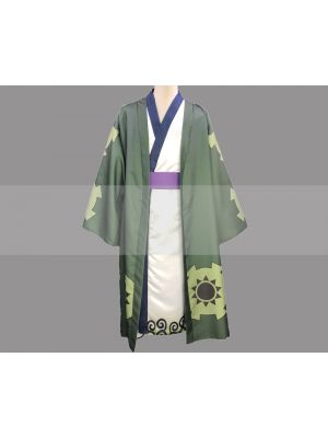 Customize One Piece Wano Country Arc Roronoa Zoro Yukata Cosplay Costume for Sale
