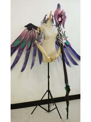 Overwatch Mercy Skin Sugar Plum Fairy Wings Staff Cosplay Prop