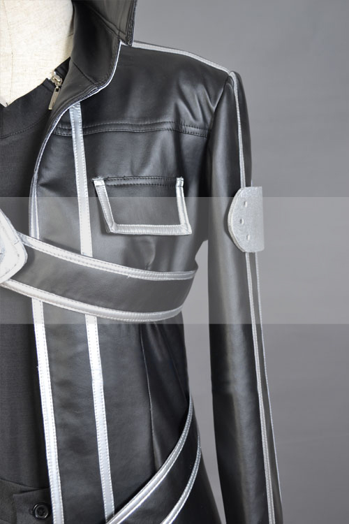 SAO Kirito Cosplay Leather Trench Coat