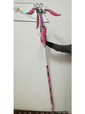 Overwatch BCRF Charity Event 2018 Mercy Skin Pink Cosplay Staff for Sale