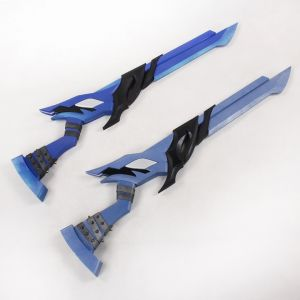 Elsword Lu/Ciel Demonio Weapon Dual Gun Blades Cosplay Replica Prop Buy