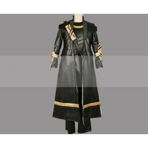 The Avengers Loki Cosplay Costume