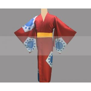 One Piece Luffy Wano Country Arc Cosplay Costume Yukata for Sale