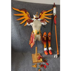 Overwatch Mercy Skin Zhuque Cosplay Wings Armor Staff