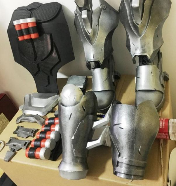 HNNS OW Reaper Gloves OW Cosplay Costume Accessories Gabriel Reyes Game Anime Armor Props Black